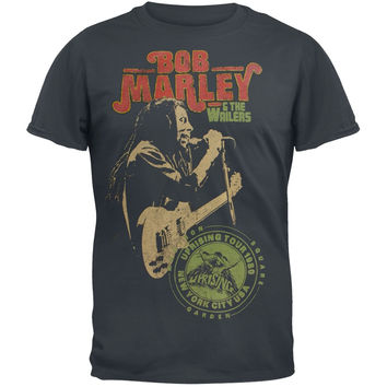 Bob Marley - Uprising Tour 1980 Adult Soft T-Shirt