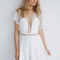 marina playsuit - ivory