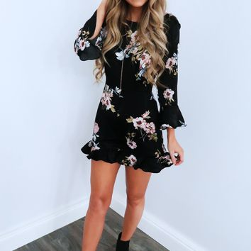 Floral Goals Romper: Black/Multi