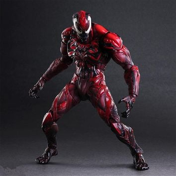 NEW hot 28cm spider-man Carnage Enhanced version Action figure toys doll collection Christmas gift