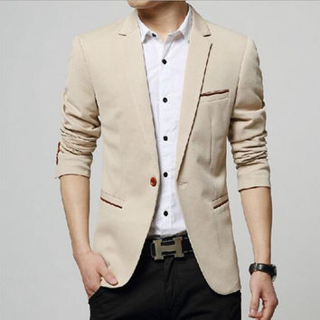 New men leisure business suit / Men's suit jacket blazers coat