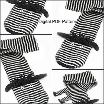 Easy Zebra Scarf Knitting PDF Pattern Animal Scarf Zebra Pattern Is not a finished product. It is a PDF Pattern