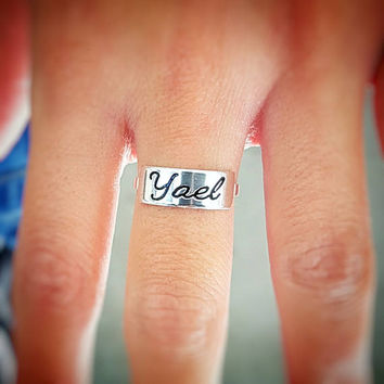 Personalized Ring - Personalized Name Ring - Custom Ring - Engraved Ring - Silver Name Ring - Personalized Jewelry - Personalized Gift