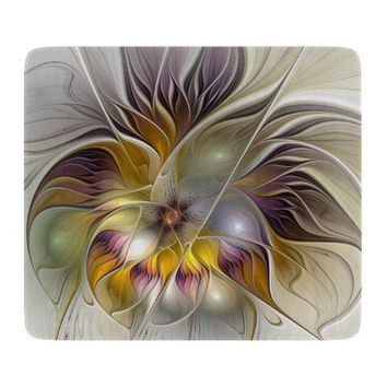 Abstract Colorful Fantasy Flower Modern Fractal Cutting Board