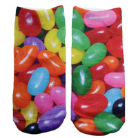 Multicolor Jellybean Knit Ankle Socks