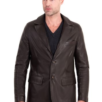 Brown Handmade Leather Jacket