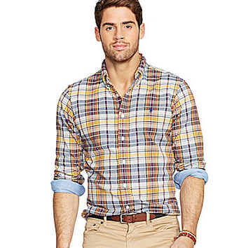 Polo Ralph Lauren Double-Faced Plaid Shirt - Navy Madras