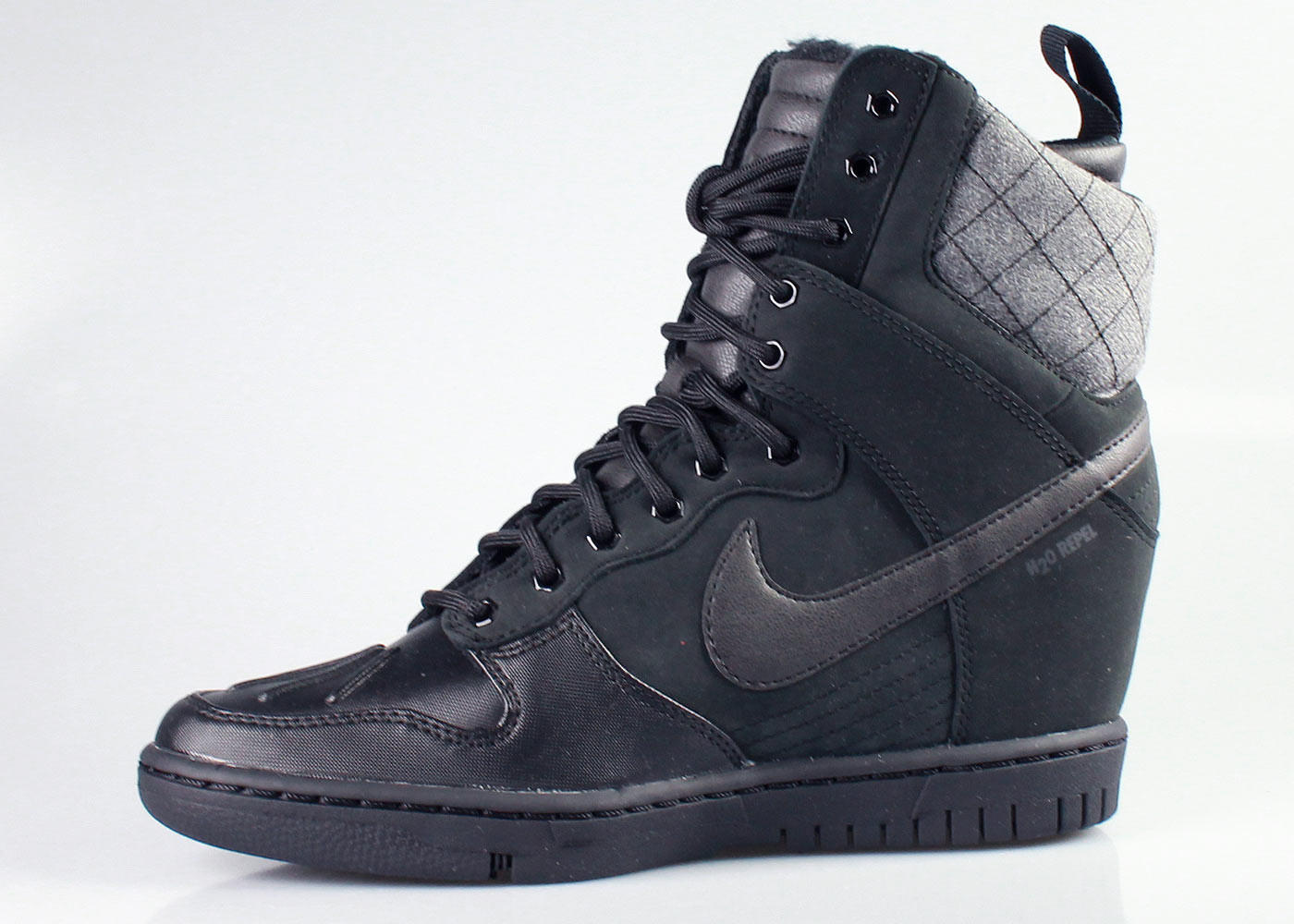 Nike Women s Dunk Sky Hi Wedge Sneakerboot Black 27a896126bda