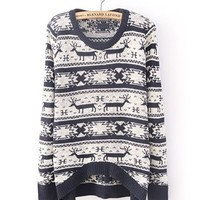 *Free Shipping* Dark Blue Knitting Pullover Sweater TBHTK008db from clothingloves