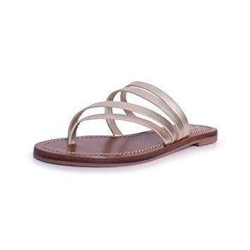 Tory Burch Patos Flat Sandal In Spark Gold