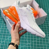 Nike Air Max 270 White Orange Ah8050-102 Sport Running Shoes - Best Online Sale