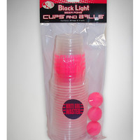 White Girl Wasted Blacklight Beer Pong Cups and Balls SetPong Kit