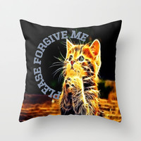Please forgive me Throw Pillow by Store2u