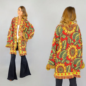 Sunflower Tapestry Coat