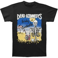 Dead Kennedys Men's  Cambodian Skeleton T-shirt Black Rockabilia