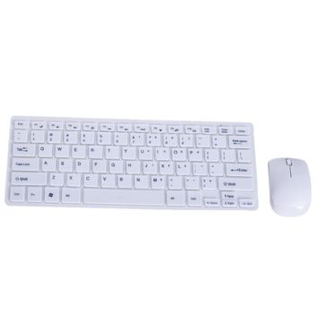 Ultra Thin 2.4GHz Wireless Mini Keyboard and Mouse with Protective Cover Teclado E Mouse Sem Fio Set for Computer Desktop Laptop