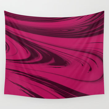 Maroon Waves - Pattern Wall Tapestry by Moonshine Paradise