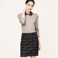 Plaid Scuba Shift Skirt