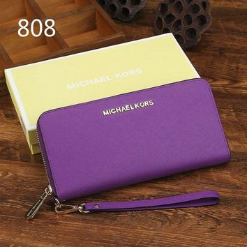 MICHAEL KORS fashion brand casual men and women leather zipper wallet F