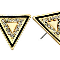House of Harlow 1960 Teepee Triangle Studs Gold Tone/Ivory - Zappos.com Free Shipping BOTH Ways