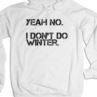 White Hoodie | Funny Anti Winter Shirts