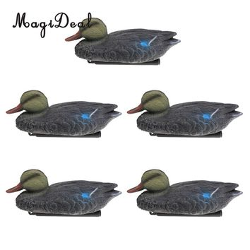 MagiDeal 5 Pieces Floating Mallard Duck Decoy Hunting Decoys Garden Yard Ornaments Hunting Decoy for Oudoor Camping Access