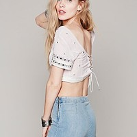 Free People Womens Mirror Crop Top - Lavender