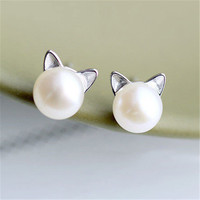 Lovely Jewelry Silver Accessory Earrings [11107415956]
