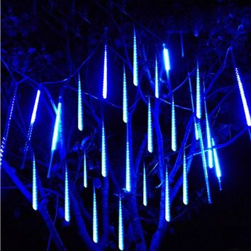 30cm Meteor Shower Rain Tube Decorative Guirlande LED Outdoor Garden Garland Fairy Christmas Tree Decoration Navidad Lights