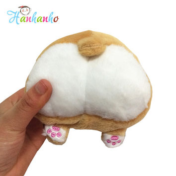 Novelty Corgi Sexy Bottom Coin Bag Plush Toy Purse Stuffed Animal Wallet 13*10cm