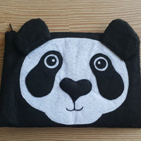 Panda Zip Purse, Makeup Bag, Coin Purse, Small Accessory Pouch FREE SHİPPİNG