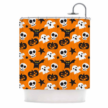 "KESS Original ""Spooktacular"" Halloween Pattern Shower Curtain"