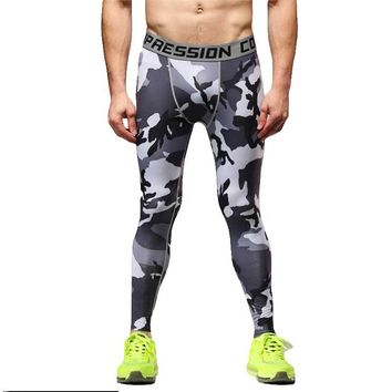 Men Running Tights Pro Compress Yoga Pants GYM Exercise Fitness Leggings Workout Basketball Exercise Train Sports Clothing s66