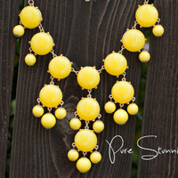 J Crew Bubble Necklace Inspired  Yellow Bubble by PureStunning