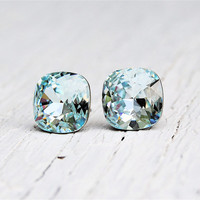 Icy Blue Swarovski Crystal Earrings