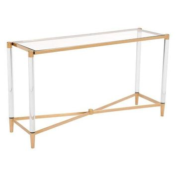Existential Console Table Lucite / Gold