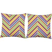 Modern Chevron Throw Pillows - Chevron Striped Pillow Covers with or without Cushion Insert - Chevron Decor, Mod Pillows, Room Decor Pillows