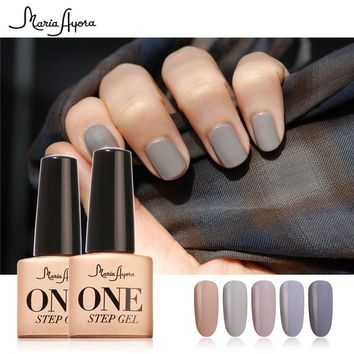 Maria Ayora 7ml Nail Gel Polish UV LED One Step Gel Varnish Long Lasting Vernis Semi Permanent Polish No Need Base Top Coat