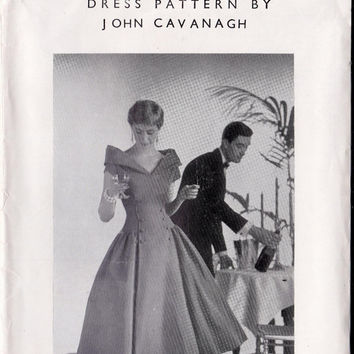 1950s John Cavanagh Evening Coat Dress Vintage Sewing Pattern Bust 36 UNUSED FF