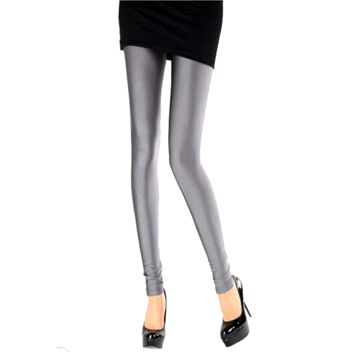Solid Color Leggings - Grey