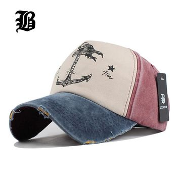 Men's Anchors pure cotton baseball cap