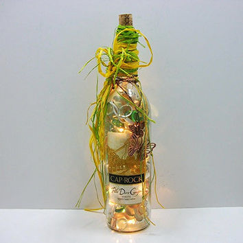 Wine Bottle Lights - Lighted Wine Bottle -  Lights in a  Bottle
