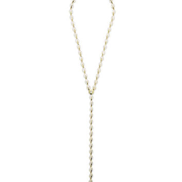 Ippolita 18K Senso™ Metal-Wrapped Mother-of-Pearl Y-Drop Necklace, 22
