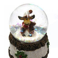 REINDEER SNOW GLOBE MINI
