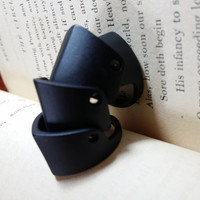 Black plated matte knuckle armor ring Rock Punk Glam