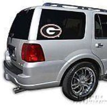 "Georgia Bulldogs 12"" Auto Perforated Window Glass Film Decal NEW University of"