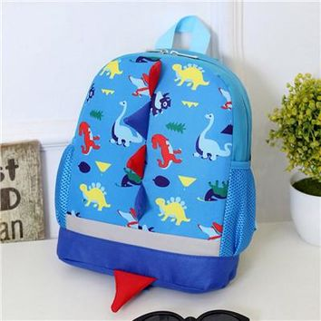 Toddler Backpack class 2017 New Casual Canvas Baby Boys Girls Kids Dinosaur Pattern Animals Backpack Toddler Travel School Bag Zipper Bag B#ship AT_50_3