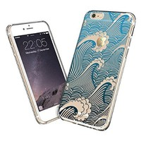 iPhone 6s Case, iPhone 6s Case Clear, iPhone 6s Case Mint Henna, ESR Totem Series Hybrid Case [One Piece] TPU Bumper +Hard PC Back Cover Protective Case for 4.7 inches iPhone 6s / 6(Cyan Paisley)
