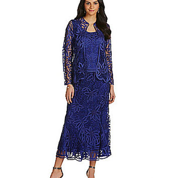 Soulmates 3-Piece Beaded Embroidered Crochet Skirt Set - Amethyst
