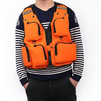 4 Colors L/XL/XXL Multi-Pocket Fishing Vest Outdoors Sports Fishing Clothes For Photography Travel Hiking Fishing Accessories